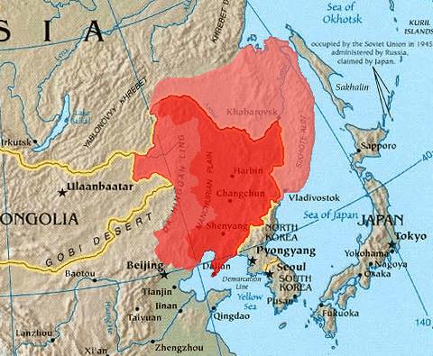 маньчжурия на карте