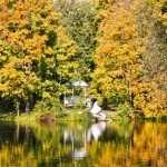 Пушкинское Болдино, прогулка по осеннему саду