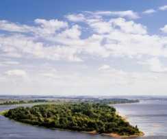 Выходные на острове. Река Кама
