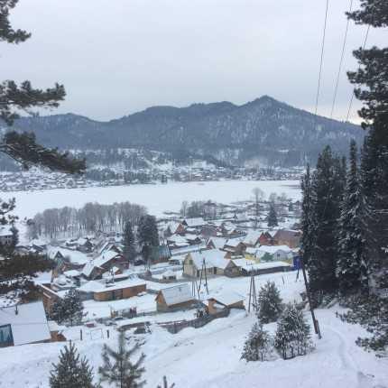 зимой на Телецком