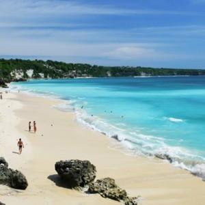 Пляж Бали или завороженный пейзажем