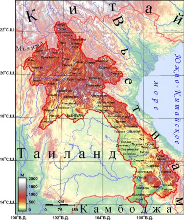 география Лаоса