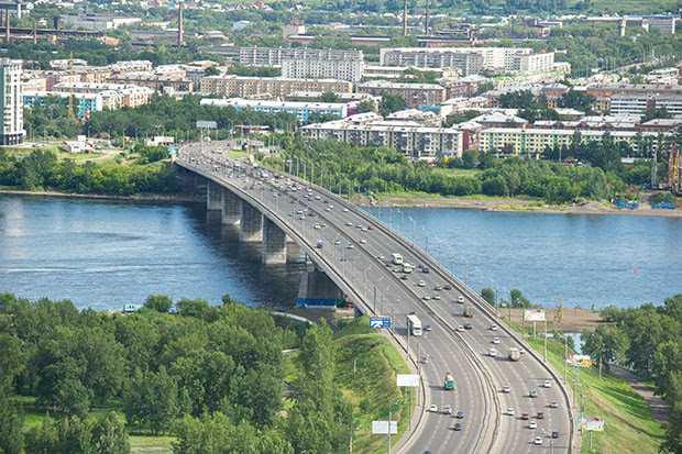 Октябрьский мост Красноярск