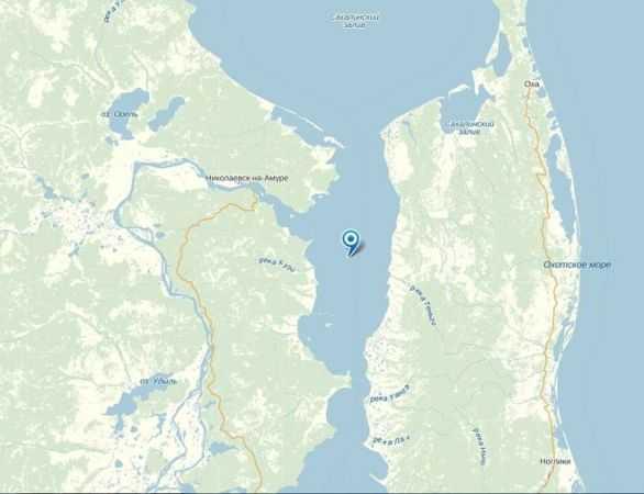 Амурский лиман на карте