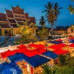 Город Луанг Пхабанг ночью