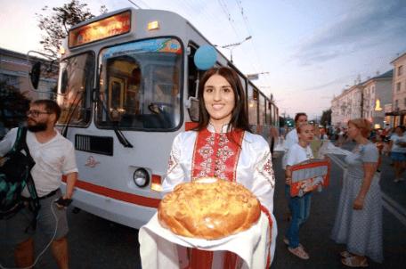 В Чебоксарах вновь запущен экскурсионный троллейбус