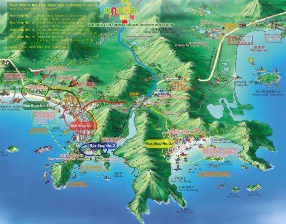 Парк дождевых лесов Янода на острове Хайнань