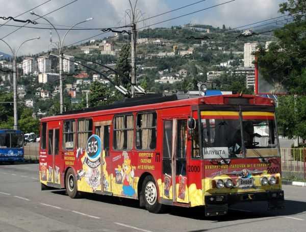 Расписание и маршруты троллейбуса в Крыму