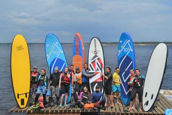 В Чебоксарах активно развивается SUP-серфинг на Волге