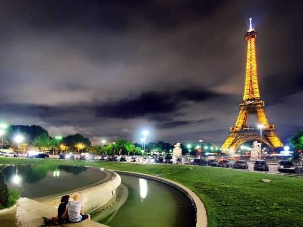 Ночью по Парижу из аэропорта Шарля-де-Голля