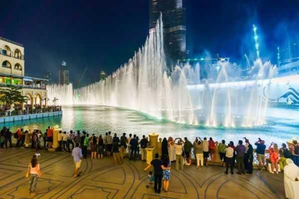фонтан Дубай