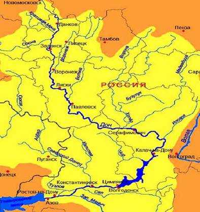 фото на карте река дон