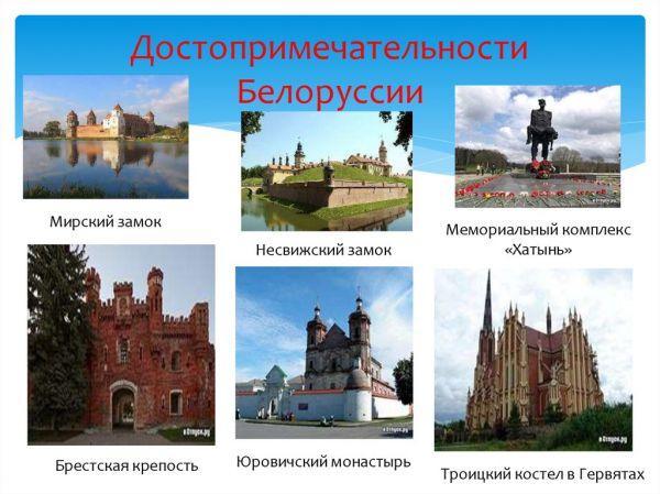 Лучшие достопримечательности Белоруссии