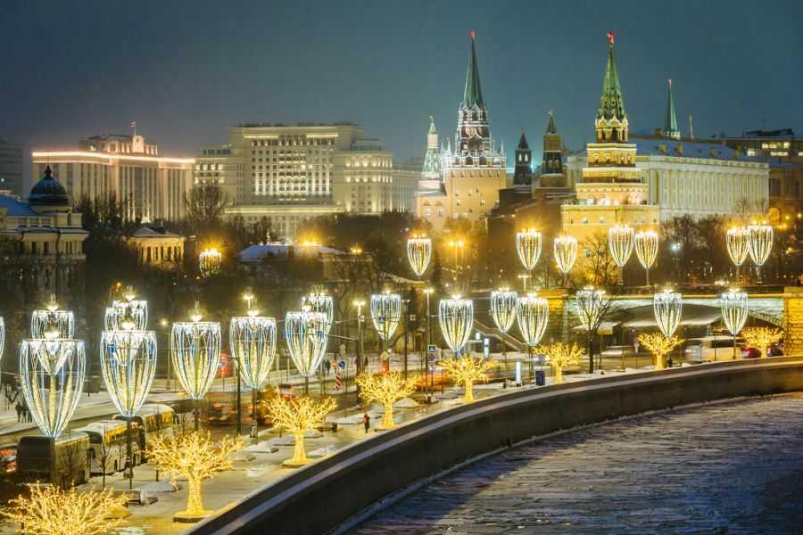 Новогодняя Москва. Красивый маршрут по вечерней столице