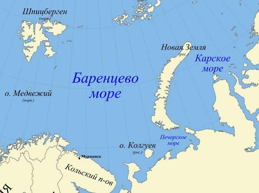 моря омывающие Россию