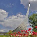 Музей космонавтики у подножия монумента «Покорителям космоса» на ВДНХ