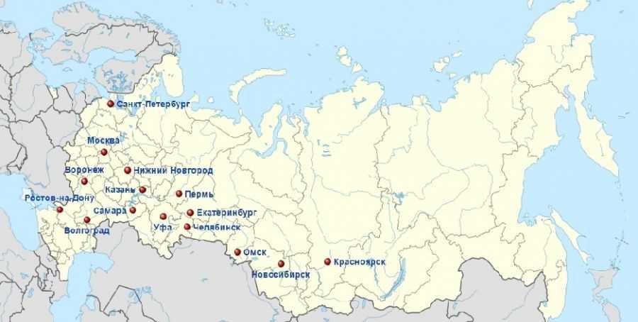Города миллионники России