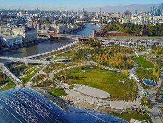 Парк Зарядье — зеленый оазис в центре Москвы