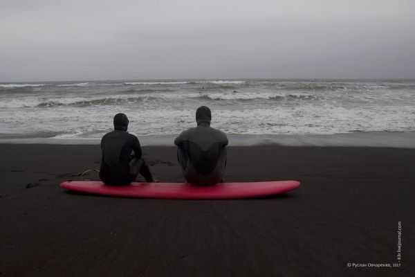 Черные пески Халактырского пляжа. Камчатка